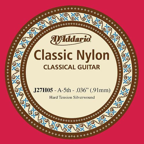 D'Addario J27H05  Student Nylon Classical Guitar SGL String Hard Tension Fifth S