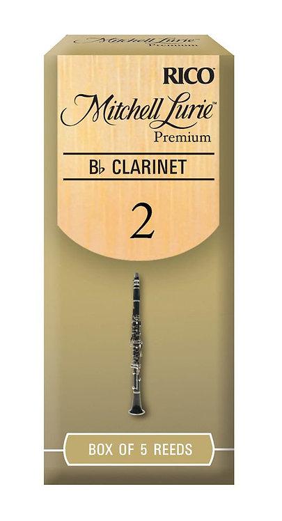 Mitchell Lurie Premium Bb Clarinet Reeds Strength 2.0 5 Pack