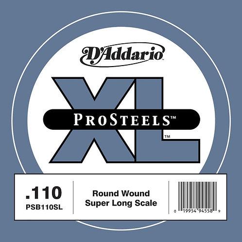 D'Addario PSB110SL ProSteels Bass Guitar SGL String Super Long .110