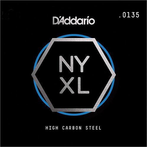 D'Addario NYS0135 SGL Plain Steel Guitar String .0135