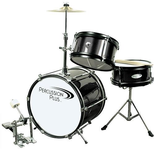Percussion Plus 3 Pc Mini Drum Set - Black