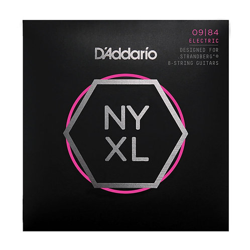 D'Addario NYXL0984 Nickel Wound Strandberg 8-String Electric Guitar Strings Supe