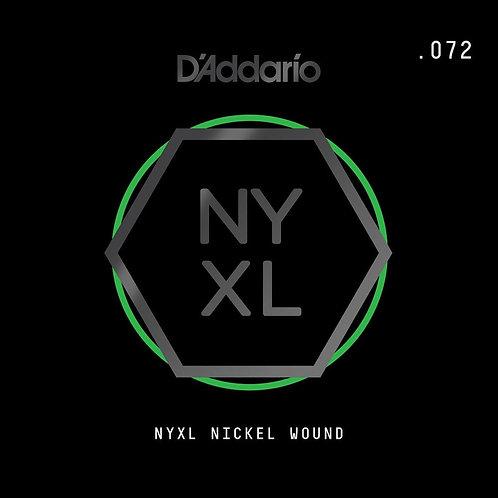D'Addario NYNW072 NYXL Nickel Wound Electric Guitar SGL String .072