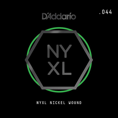 D'Addario NYNW044 NYXL Nickel Wound Electric Guitar SGL String .044