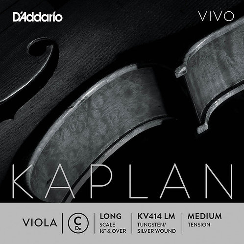 D'Addario Kaplan Vivo Viola C String Long Scale Med Tension