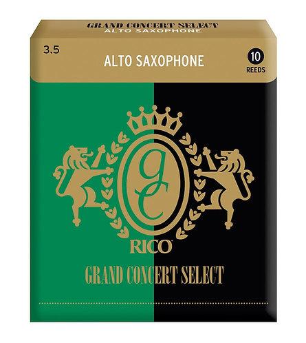 Rico Grand Concert Select Alto Sax Reeds Strength 3.5 10-pack