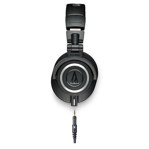 Audio-Technica Closed back headphones 45mm pouch 3 cables 1/4 adptr