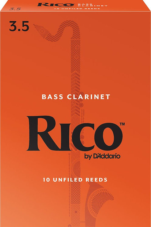 Rico by D'Addario Bass Clarinet Reeds Strength 3.5 10 Pack
