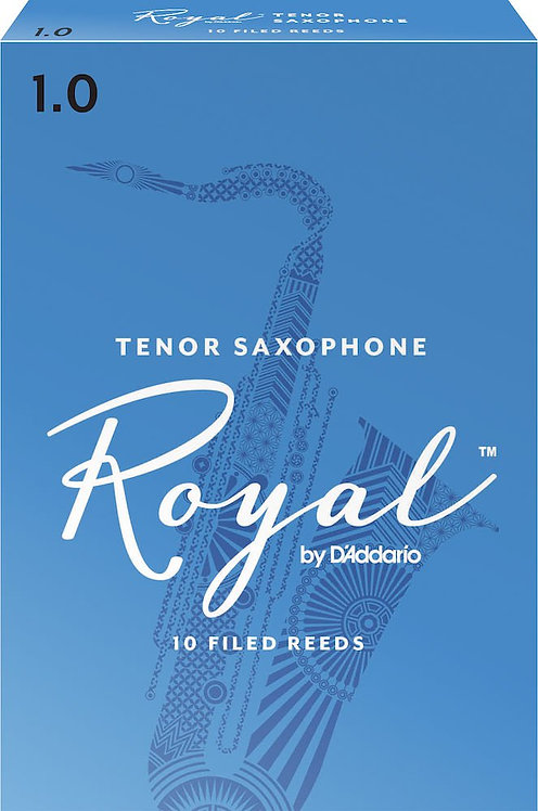 Royal by D'Addario Tenor Sax Reeds Strength 1 10-pack