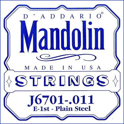 D'Addario J6701 Nickel Mandolin SGL String .011