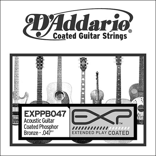 D'Addario EXPPB047 EXP Coated Phosphor Bronze SGL String.047