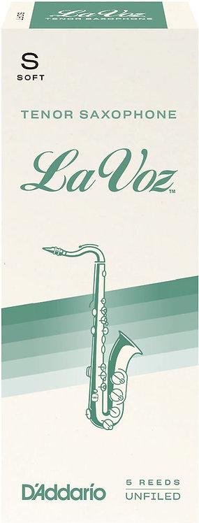 La Voz Tenor Saxophone Reeds Soft 5 Pack