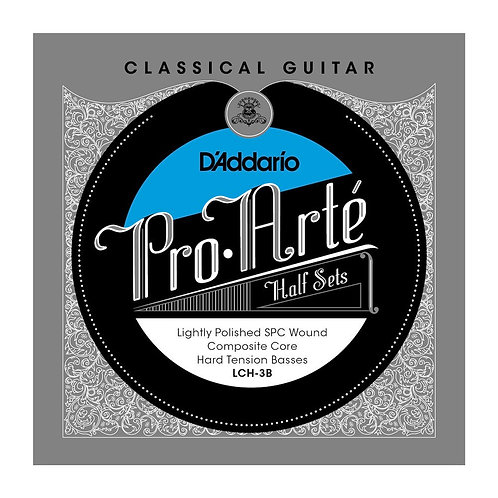D'Addario LCH-3B Pro-Arte Lightly Polished Silver Plated Copper on Composite Cor
