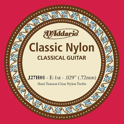 D'Addario J27H01 Student Nylon Classical Guitar SGL String Hard Tension First St