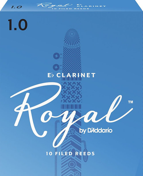Royal by D'Addario Eb Clarinet Reeds Strength 1 10-pack