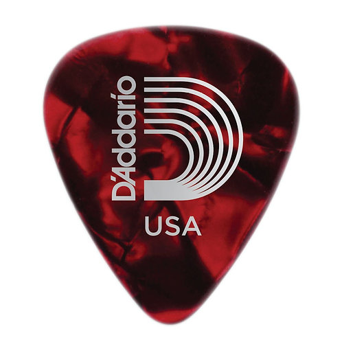 D'Addario Red Pearl Celluloid Guitar Picks 25 pack Med