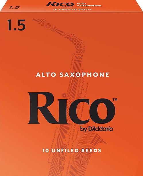 Rico by D'Addario Alto Sax Reeds Strength 1.5 10-pack