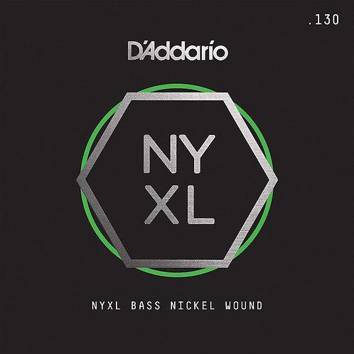 D'Addario NYXLB130 NYXL Nickel Wound Bass Guitar SGL String Long Scale .130