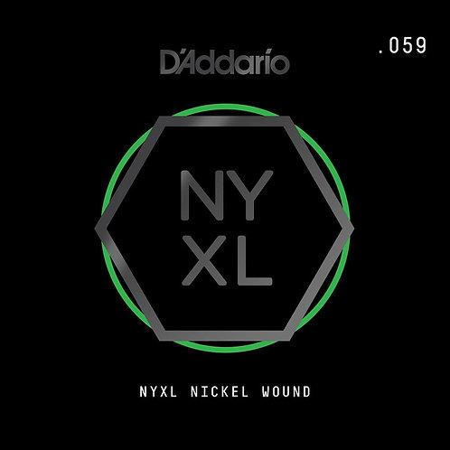 D'Addario NYNW059 NYXL Nickel Wound Electric Guitar SGL String .059