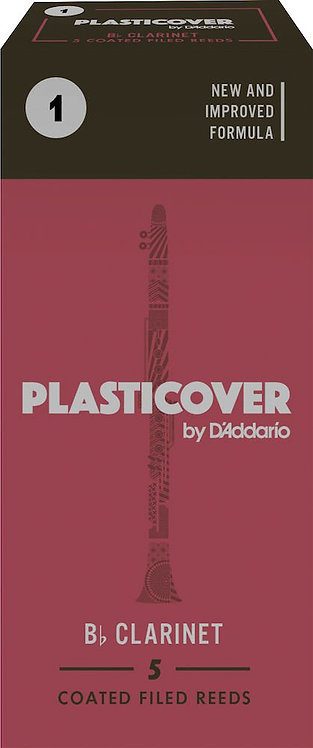 Plasticover by D'Addario Bb Clarinet Reeds Strength 1 5-pack