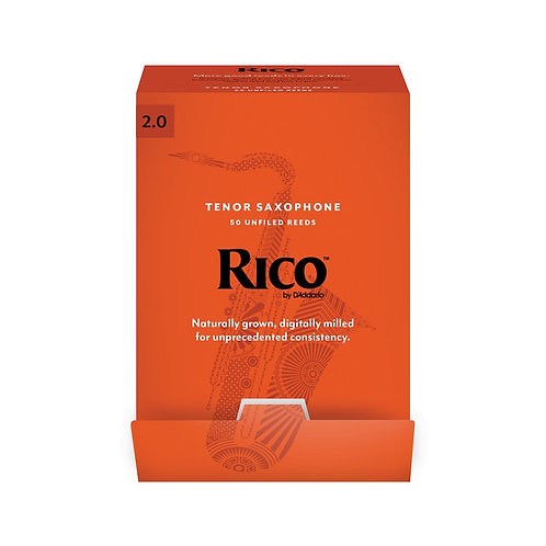Rico by D'Addario Tenor Saxophone Reeds Strength 2.0 50-pack