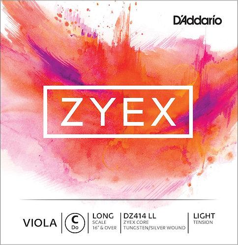 D'Addario Zyex Viola SGL C String Long Scale Light Tension