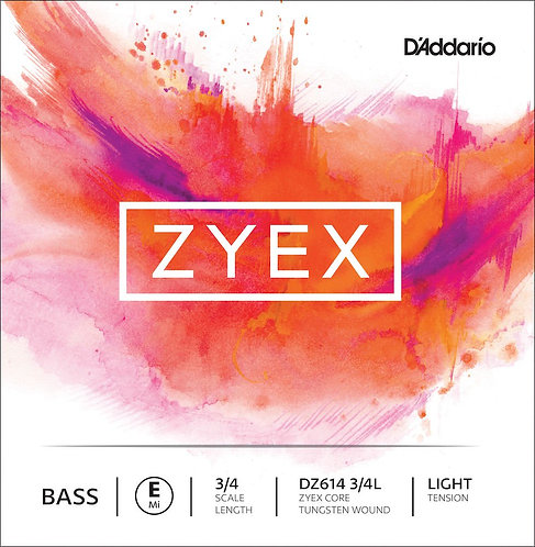D'Addario Zyex Bass SGL E String 3/4 Scale Light Tension