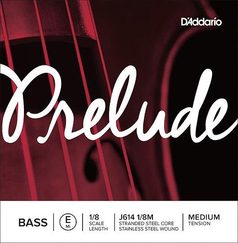 D'Addario Prelude Bass SGL E String 1/8 Scale Med Tension
