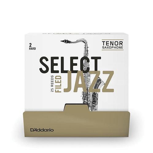 D'Addario Select Jazz Filed Alto Saxophone Reeds Strength 2 Hard 25 Box