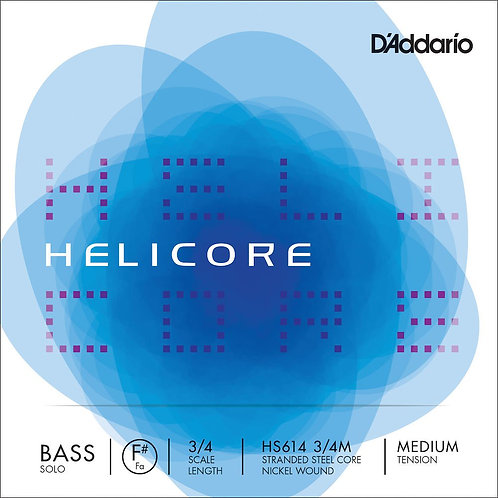 D'Addario Helicore Solo Bass SGL F# String 3/4 Scale Med Tension