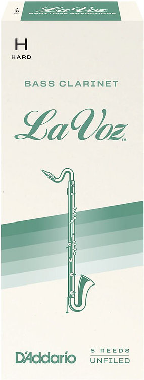 La Voz Bass Clarinet Reeds Strength Hard 5 Pack