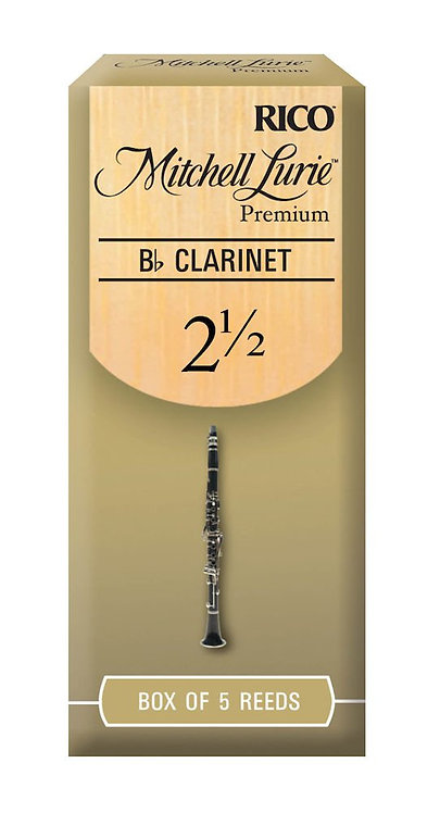 Mitchell Lurie Premium Bb Clarinet Reeds Strength 2.5 5 Pack
