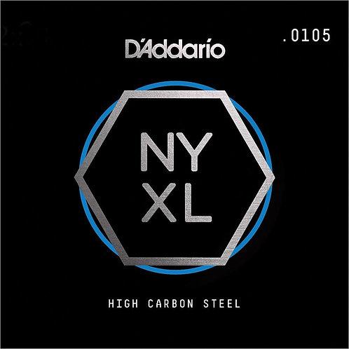 D'Addario NYS0105 SGL Plain Steel Guitar String .0105