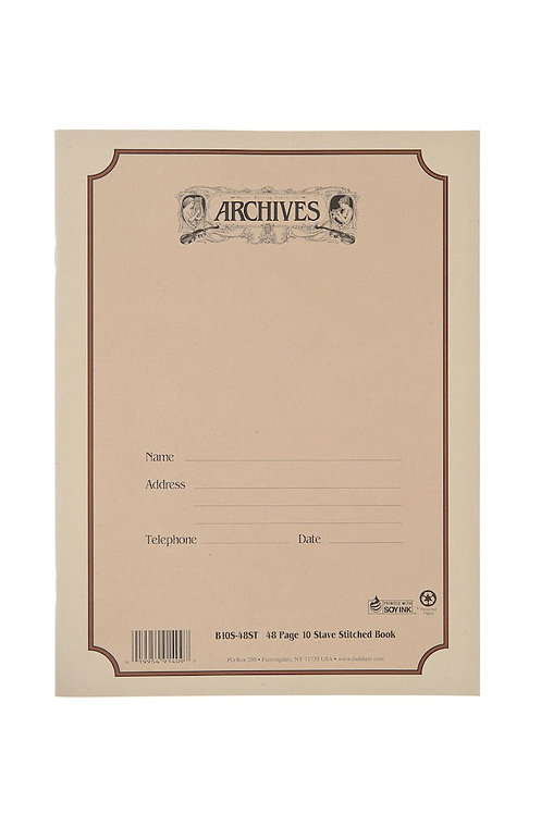 Archives Standard Bound Manuscript Paper Book 10 Stave 48 Pages
