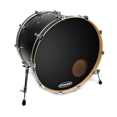 Evans EQ3 Resonant Black Bass Drum Head 18 Inch