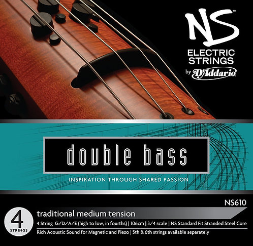 D'Addario NS Electric Traditional Bass String Set 3/4 Scale Med Tension