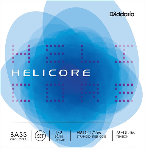 D'Addario Helicore Orchestral Bass String Set 1/2 Scale Med Tension