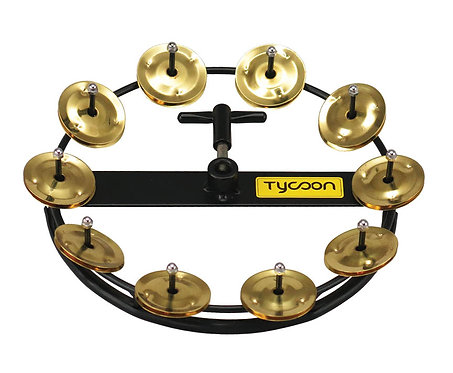 Large Hi-Hat Tambourine with 10 Pair of Jingles
