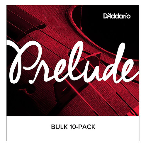 D'Addario Prelude Violin SGL E String 1/2 Scale Med Tension Bulk 10-Pack