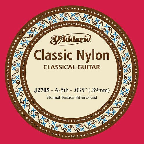 D'Addario J2705  Student Nylon Classical Guitar SGL String Normal Tension Fifth