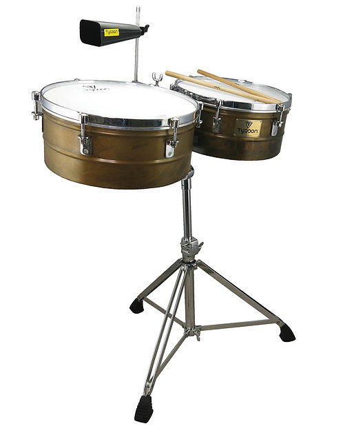 Antiqued Gold Timbales