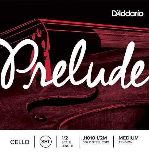 D'Addario Prelude Cello String Set 1/2 Scale Med Tension