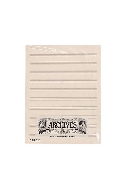 Archives Manuscript Score Pads 10 Stave 50 Sheets
