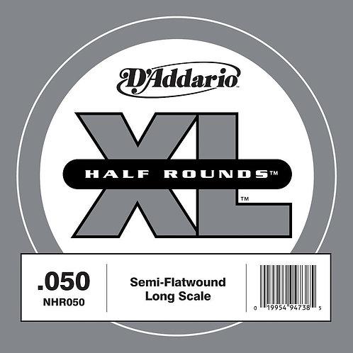 D'Addario NHR050 Half Round Bass Guitar SGL String Long Scale .050