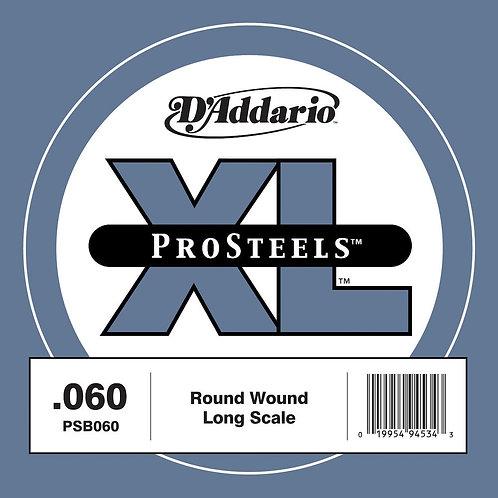 D'Addario PSB060 ProSteels Bass Guitar SGL String Long Scale .060