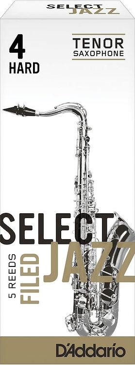 D'Addario Select Jazz Filed Tenor Saxophone Reeds Strength 4 Hard 5-pack