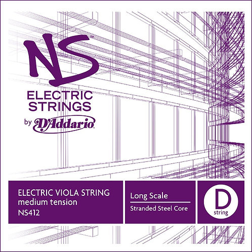 D'Addario NS Electric Viola SGL D String Long Scale Med Tension