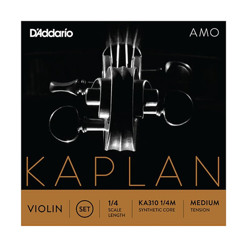 D'Addario Kaplan Amo Violin String Set 1/4 Scale Med Tension