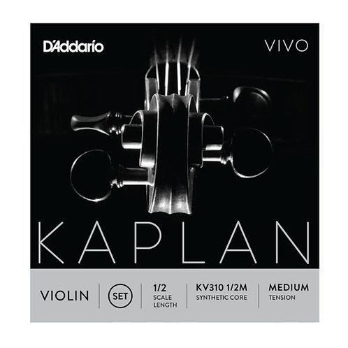 D'Addario Kaplan Vivo Violin String Set 1/2 Scale Med Tension