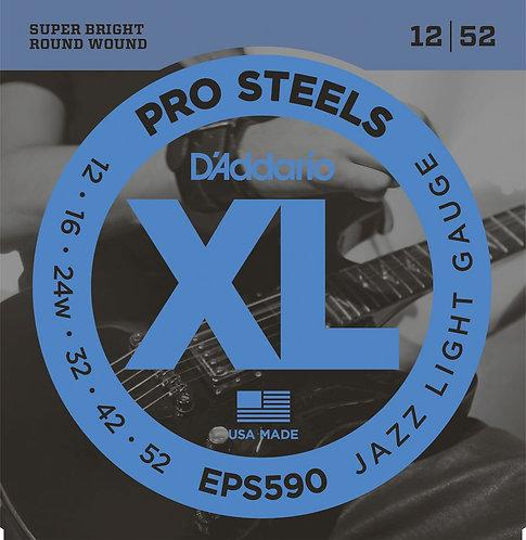 D'Addario EPS590 ProSteels Electric Guitar Strings Jazz Light 12-52